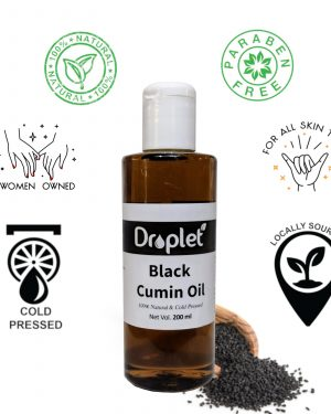 Kalonji Oil Benefit pure black seed cumin oil by droplet care
