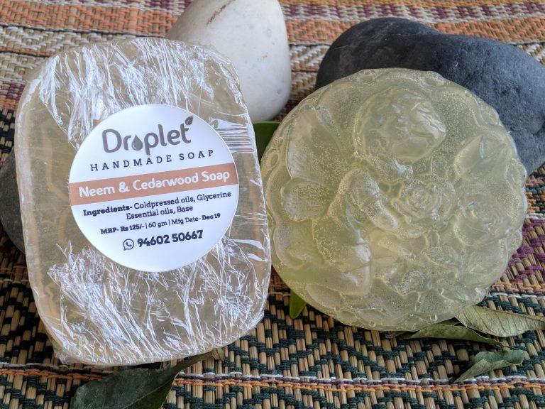 handmade neem cedarwood soap